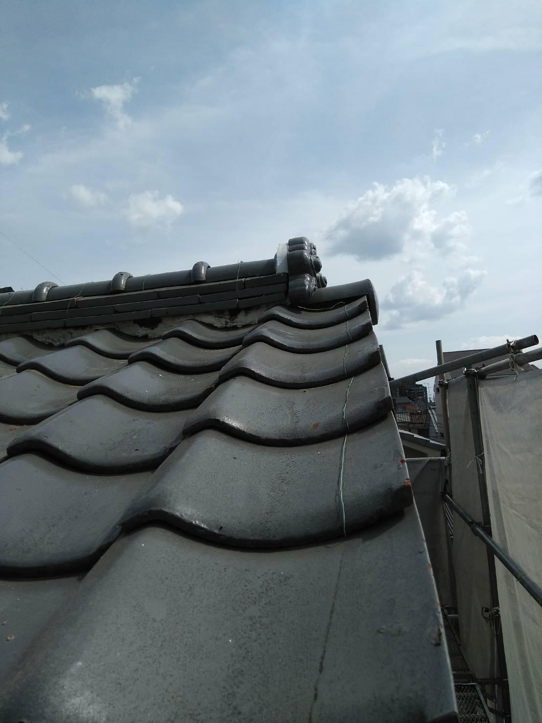 京都市右京区にて屋根工事