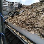 京都市下京区にて蔵の解体工事