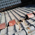 京都市南区にて屋根の葺き替え工事 ~着工・瓦おろし~