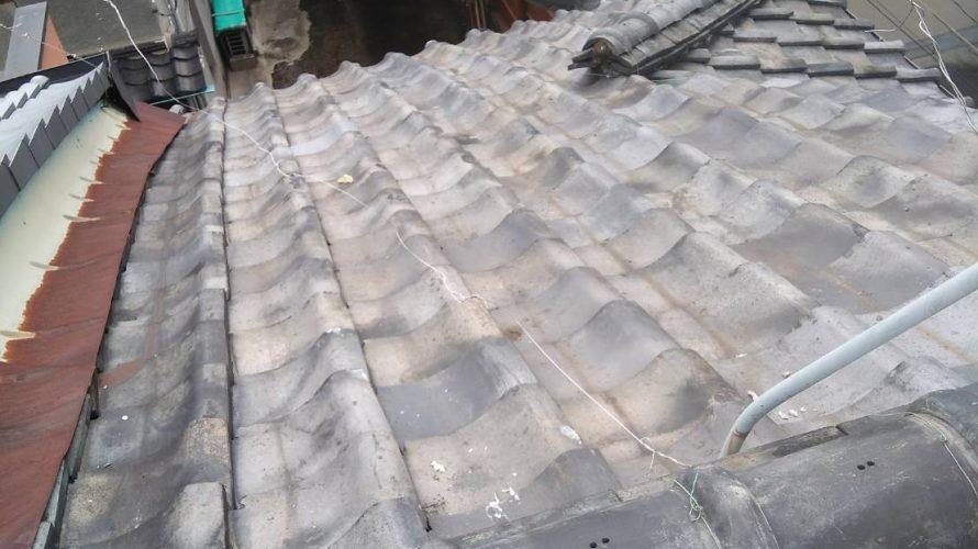 京都市中京区にて屋根修理(突き上げ工事)