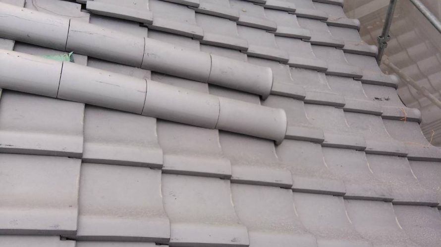 寝屋川市にて屋根修理'(瓦の葺き替え工事)