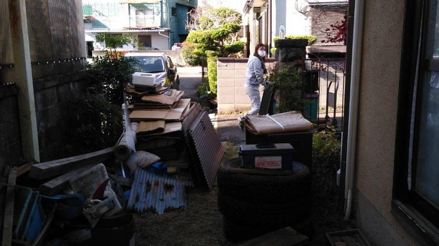 精華町にて小屋の解体工事