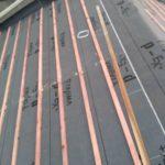 京都市下京区にて屋根修理(瓦の葺き替え) ~防水シート・桟木取付~