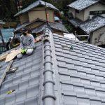 京都市左京区にて棟積み替え補修