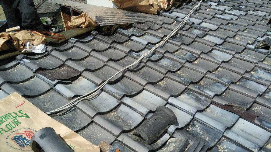 京都市中京区にて屋根修理(棟修理)
