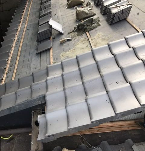京都市上京区にて屋根修理 ~瓦葺き~