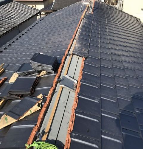京都市右京区にて 屋根修理