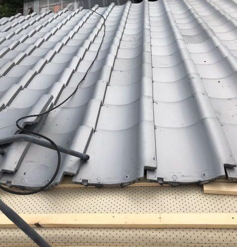 京都市西京区にて屋根葺き替え工事