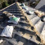 京都市北区にて棟積み替え工事