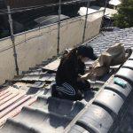 伊丹市にて瓦屋根補修工事
