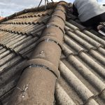交野市にて屋根修理 ~漆喰塗り~