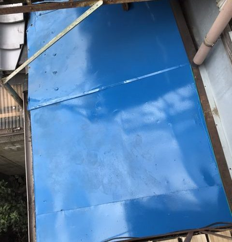 下京区にて屋根修理 ~塗装~