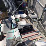 京都市北区にて 蔵の屋根修理