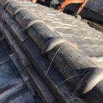京都市下京区にて屋根修理 銅線で瓦補強