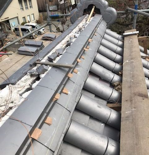 京都市北区にて 屋根修理
