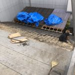 京都市下京区にて屋根修理 ~ルーフィング施工~