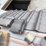京都市中京区にて 下屋根葺き替え工事