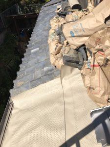 下屋根葺き替え工事