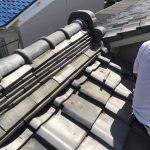 京都市にて袖瓦補修工事